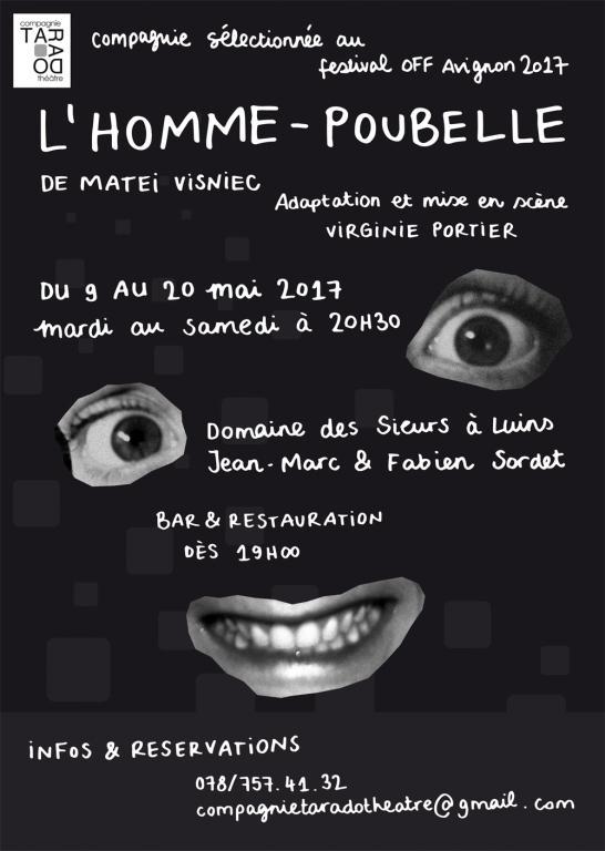 L'homme-poubelle à Luins, 9 au 20 mai 2017, 20h30